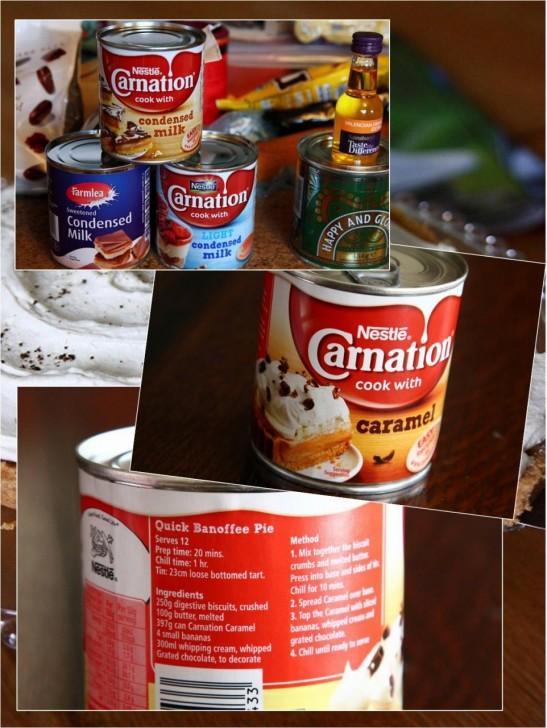 キャラメル状のコンデンスミルク缶さえあればバノフィーはあっという間☆