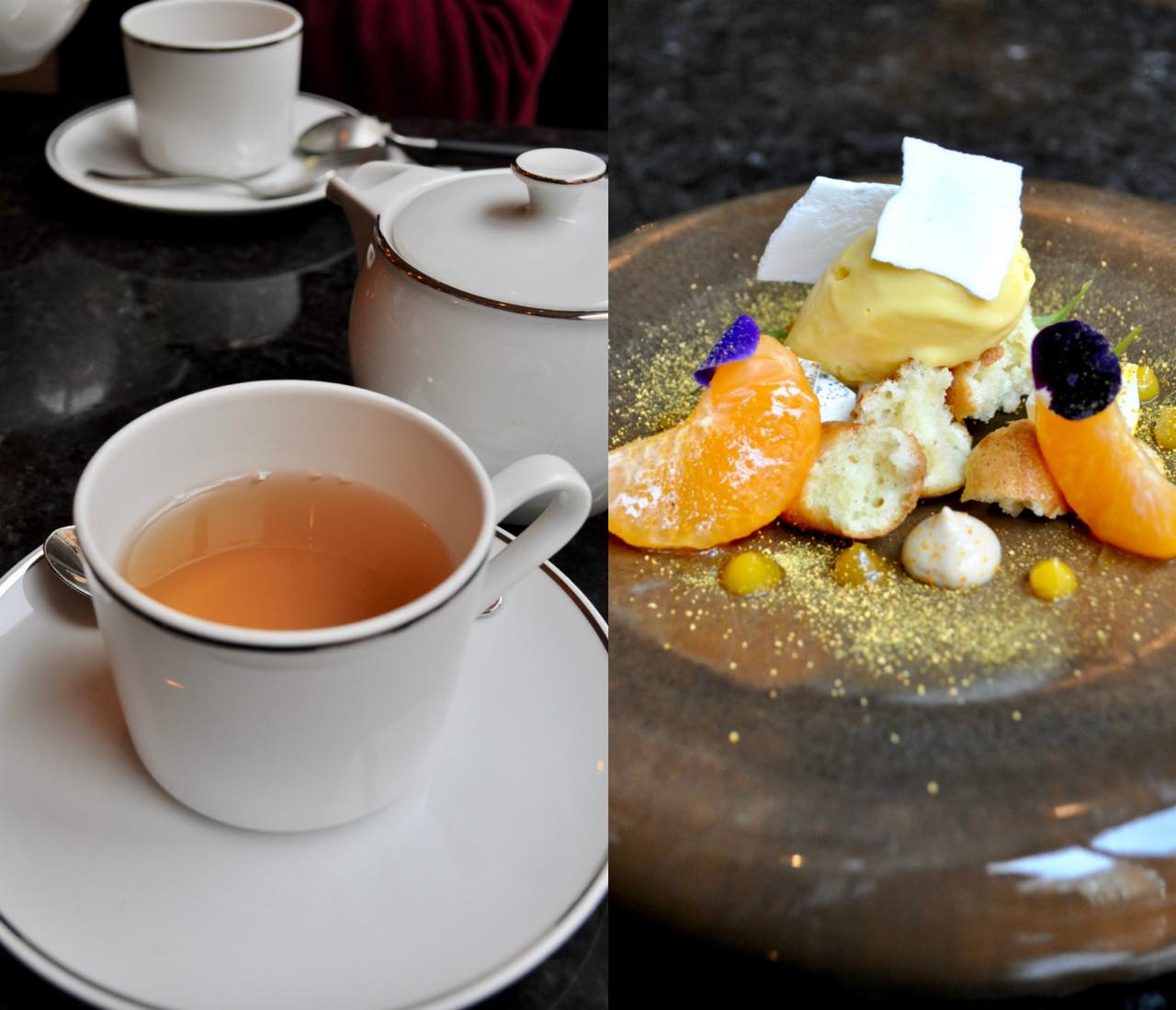 Mandarin, madeleine, clove